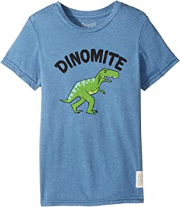 The Original Retro Brand Kids - Dinomyte Short Sleeve Heather Tee (Little Kids/Big Kids)