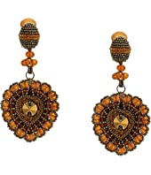 Oscar de la Renta - Runway Embroidered Heart C Earrings
