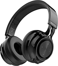 REETEC Wireless Bluetooth Headphones V5.0 with Mic, 20 Hrs Playing Time Over Ear HiFi Stereo Wireless Headphones Deep Bass Foldable Headset for Phone TV PC iPad Black