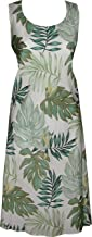 product image for Paradise Found Womens Leaves Short Tank Dress Cream M