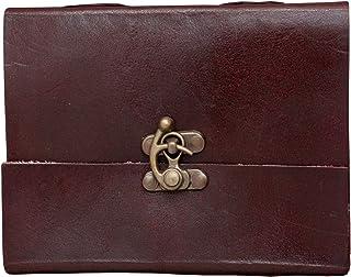 "Anshika International Pure Genuine Leather Handmade Notebook C-Lock Diary 6 * 4"" (Brown)"