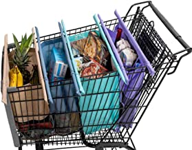 Lotus Trolley Bags -w/ LRG COOLER Bag & Egg/Wine holder! Reusable Grocery Cart Bags sized for AUSTRALIA. Eco-friendly 4-Ba...