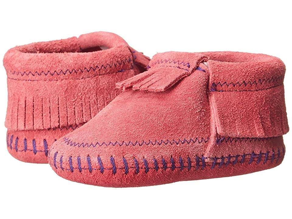 Minnetonka Kids Riley Bootie (Infant/Toddler) (Hot Pink) Girls Shoes