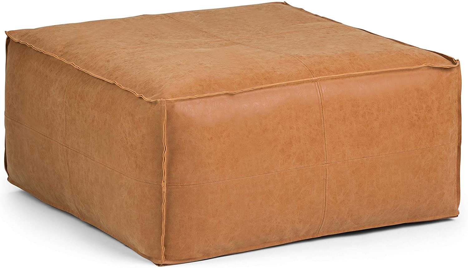 SIMPLIHOME Brody Large 67% OFF Super intense SALE of fixed price Square Coffee Table Distr 30 inch Poufs