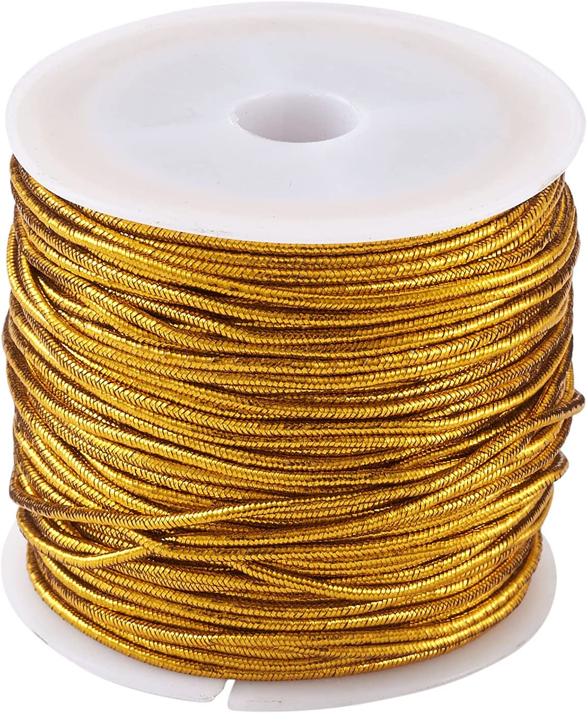 3 Rolls Now free shipping Metallic Elastic Cord Threads Polyester Golden Tinsel Ro Ranking TOP16