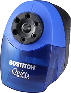 Bostitch QuietSharp 6 Heavy Duty Classroom Electric Pencil Sharpener, 6-Holes, Blue (EPS10HC)