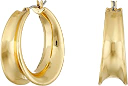 LAUREN Ralph Lauren - Concave Clickit Hoop Earrings