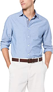 Nautica Men's LS Casual Print Shirts Riviera