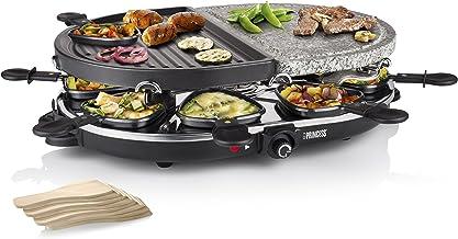 Princess 162710 Raclette grill voor maximaal 8 personen – Met steen en Antiaanbaklaag grillplaat