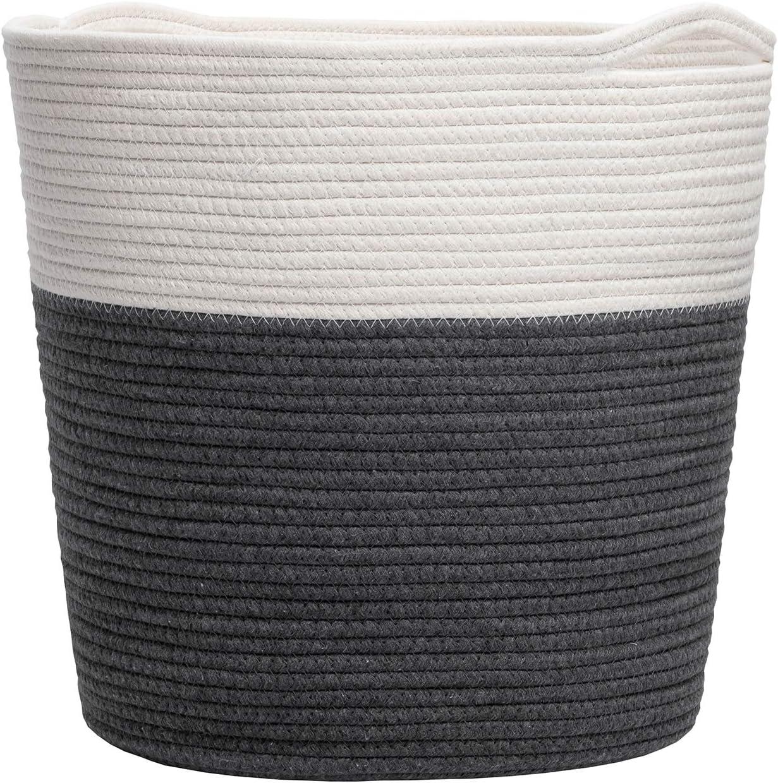 Hlryudo Large Cotton Rope Basket 13.7