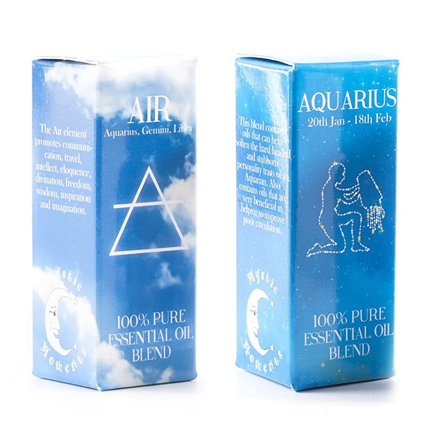 怒る欠伸ブラザーMystic Moments | Air Element & Aquarius Zodiac Sign Astrology Essential Oil Blend Twin Pack (2x10ml)
