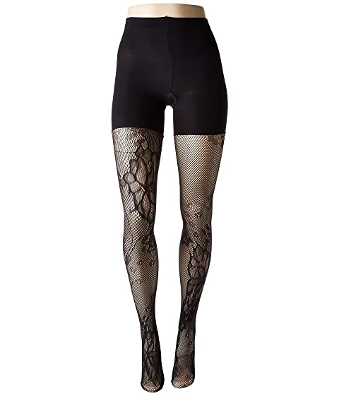 d1d57f3b18 Spanx Fishnet Floral Mid-Thigh Shaping Tights at 6pm
