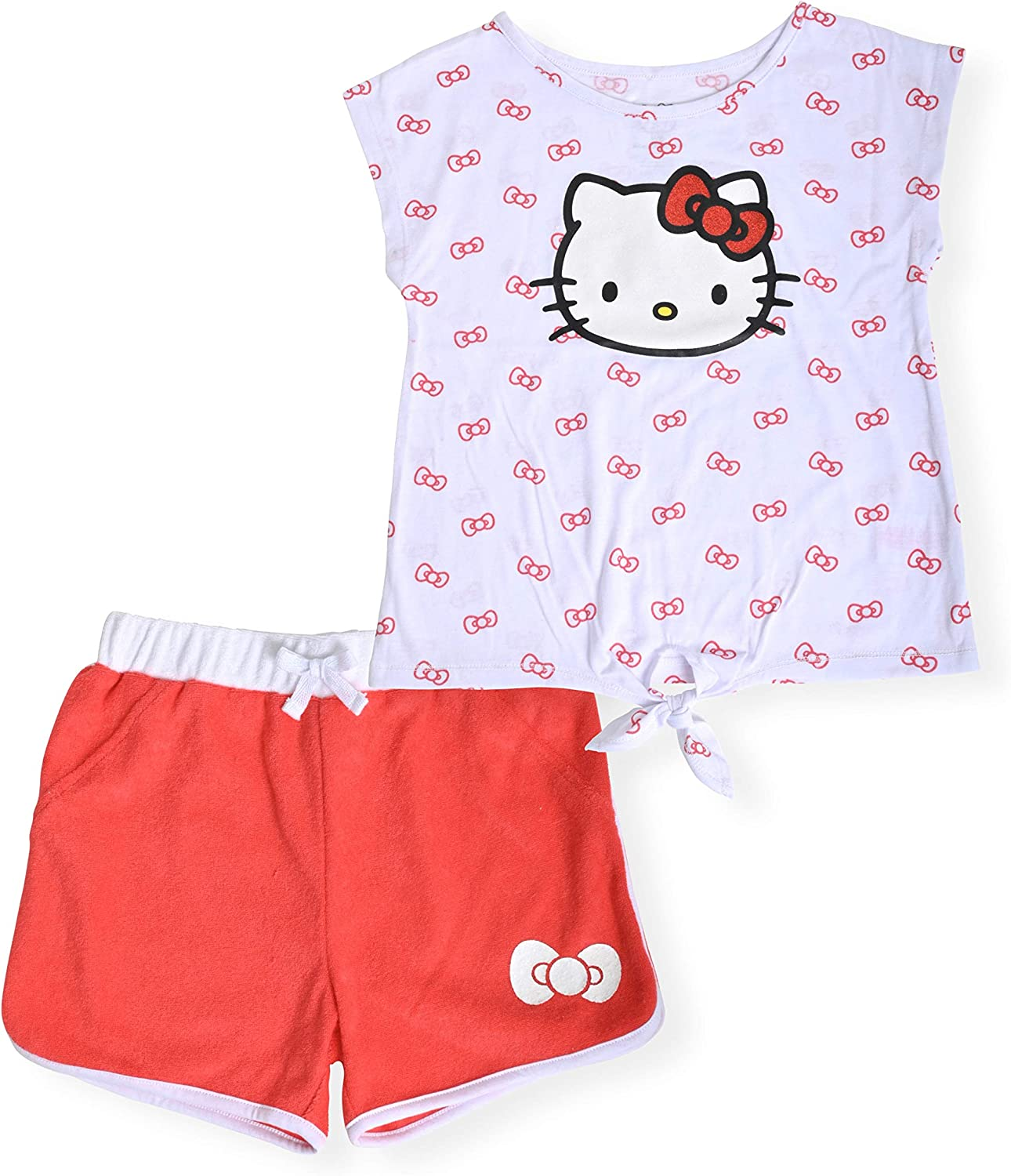 Hello Kitty Girls 2-Piece Fashion Tee Active Max 44% OFF High quality Shirt and Short Set
