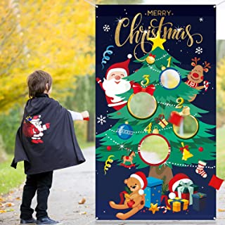 Christmas Tree Toss Game with 3 Bean Bags, Fun Indoor Outdoor Game for Kids and Adults in Christmas Party Activities, Great Christmas Decorations and Supplies (Christmas Tree)