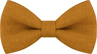 Linen Classic Pre-Tied Bow Tie Formal Solid Tuxedo, by Bow Tie House