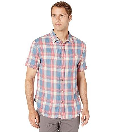 True Grit Surf Checks Hampton Short Sleeve One-Pocket Shirt (Blue) Men