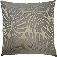 EvZ Homie Pillow Covers Heavy Cloth Decorative Pillow Case for Home Room Outdoor Cafe Decor Gift, Square, 20 X 20 inch, Metallic Luster Plant D