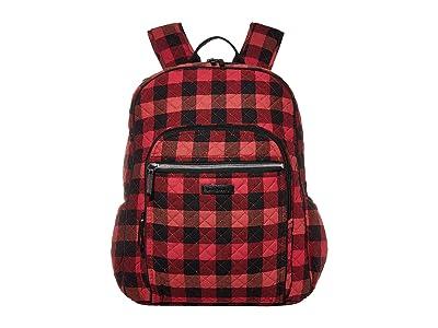 Vera Bradley Iconic Campus Backpack (Garnet Buffalo Check) Backpack Bags