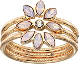Vintage Glitz Rose Opal Stack Ring Set