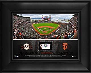 "San Francisco Giants Framed 5"" x 7"" Stadium Collage with a Piece of Game-Used Baseball - MLB Game Used Baseball Collages"
