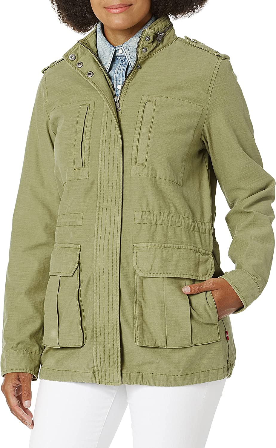 Levi's Ladies Outerwear women's Cotton quality Charlotte Mall assurance Jacket Parka Stand Field