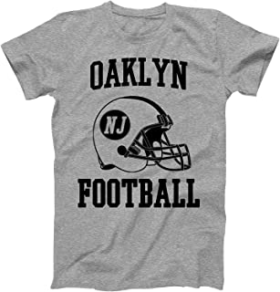 Vintage Football City Oaklyn Shirt for State New Jersey with NJ on Retro Helmet Style