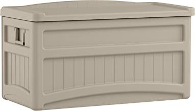 Suncast 73 Gallon Patio Storage Box - Water Resistant Outdoor Storage Container for Patio Furniture, Pools Toys, Yard Tool...
