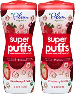 Plum Organics Puffs Spr Strwbry Beet