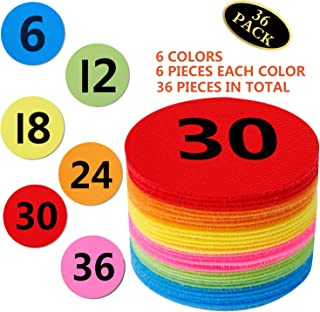 Carpet Spots Sit Markers, 36 Pack Rug Circles Marker Dots for Classroom, Preschool and Kindergarten, Nylon Floor Spots Circles Carpet Spots Maker Dots with Numbers 1-36 for Teachers Kids Educate