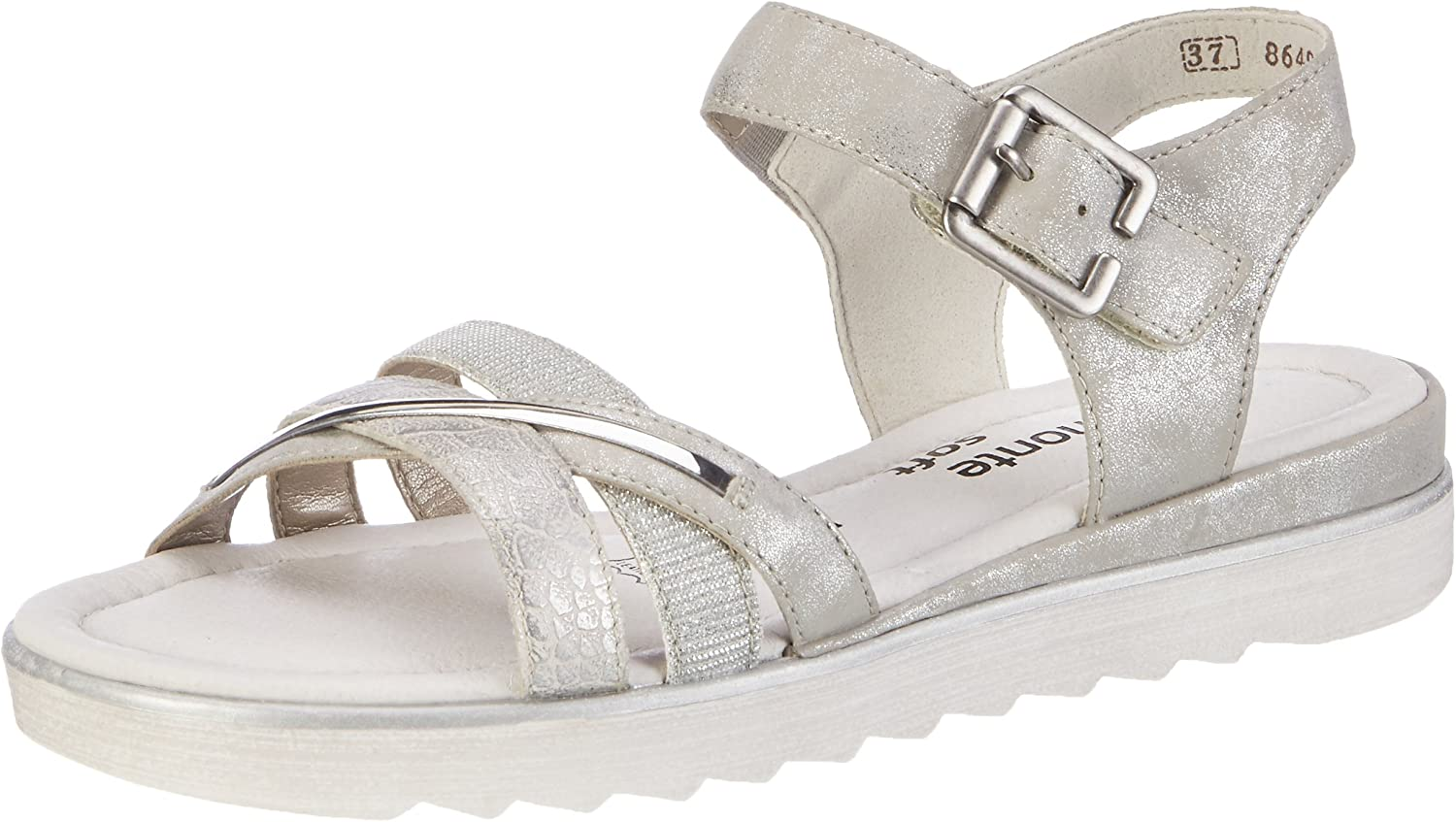 Remonte Women Sandals silver, (ice silver silver) D1151-90