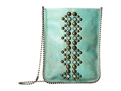 Leatherock Cell Pouch/Crossbody (Turquoise/Amber) Bags