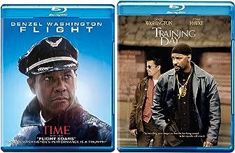 Training Day + Flight Blu Ray 2 Pack Denzel Washington Action Movie Set