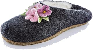 Gewenst Amelia Indoor House Slippers for Women Girls Kids Handmade Woven by Hand 100% Wool