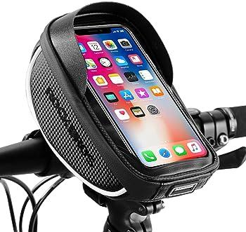 Full Waterproof Bicycle Bike Handlebar 6.5in Mobile Phone Holder Mount Case Bag