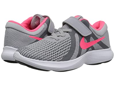 Nike Kids Revolution 4 (Little Kid) (Wolf Grey/Racer Pink/Cool Grey/White) Girls Shoes