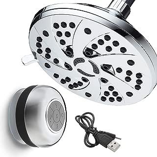 AquaDance High-Pressure Setting inch (Spiral 6-Function Rainfall Shower Head and Speaker), Chrome