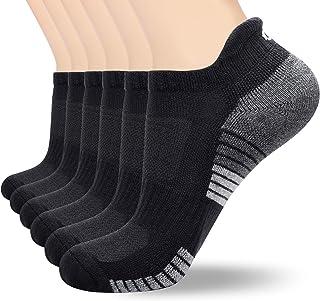 coskefy Sports Socks Cushioned Running Socks Trainer Socks for Men Women Cotton Ankle Socks Low Cut Athletic Walking Socks...
