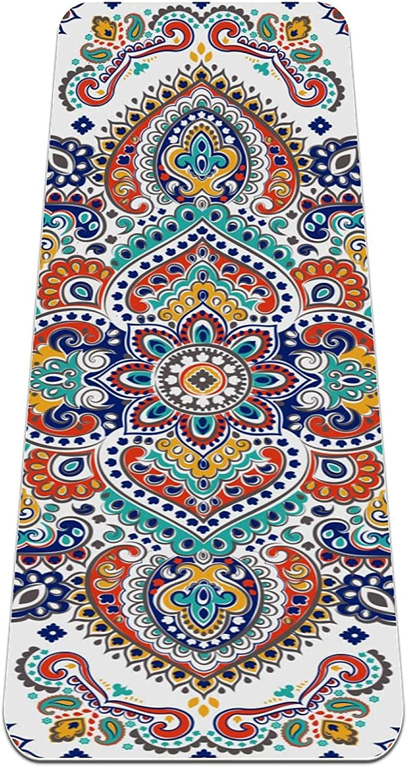 Yoga Mat OFFicial shop Indian Style Mandala Bohemia Slip Thick Challenge the lowest price of Japan ☆ Non Pattern sui