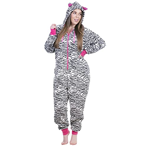 9e4b7aeee3 Totally Pink Women s Plus Size Warm and Cozy Plush Adult Onesie Pajamas Onesies  one