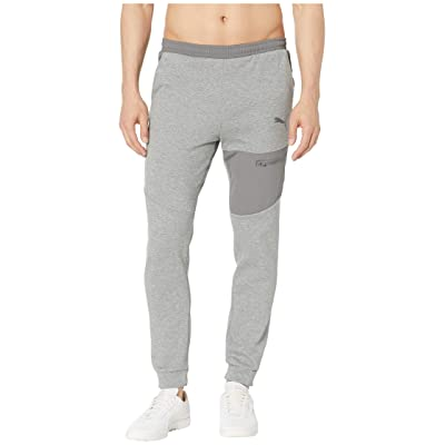 PUMA Evostripe Lite Pants (Medium Gray Heather) Men