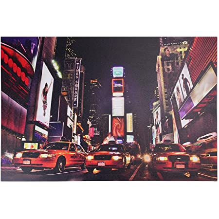 Northlight Led Lighted Nyc Times Square 7th Avenue Classic Mg Car Canvas Art 15 75 X 23 5 Wall Decor Red Posters Prints