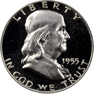 1955 P Silver Franklin Half Dollar 50¢ Proof