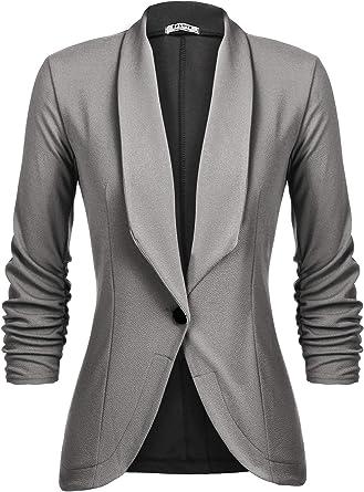 UNibelle Blazer Elegante Donna Maniche 3/4 Giacca da Abito Business Casuale Cardigan Cotone Blazer S-3XL