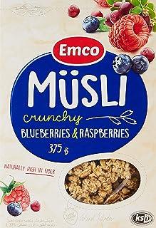 Emco Crunchy Muesli, Blueberries And Raspberries, 375 gm