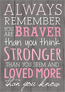P. Graham Dunn Always Remember You are Braver Than You Think 4×6 Tabletop Mini Wall Sign