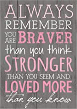 P. Graham Dunn Always Remember You are Braver Than You Think 4x6 Wall Plaque