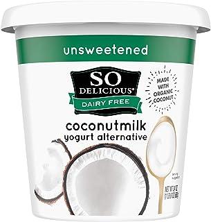 So Delicious Dairy Free Coconutmilk Yogurt Alternative, Unsweetened, Plain, Vegan, Non-GMO Project Verified, 24 oz.