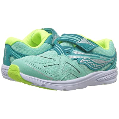 Saucony Kids Ride 9 (Toddler/Little Kid) (Turquoise) Girls Shoes