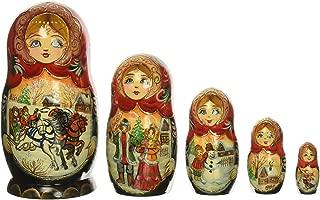G. Debrekht Russia 5 Piece Troika Winter Nested Doll Set