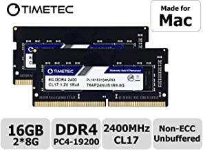 Timetec Hynix IC 16GB KIT(2x8GB) Compatible for Apple 2017 iMac 27-inch w/Retina 5K Display, 2017 iMac 21.5-inch w/Retina 4K or Non-Retina Display DDR4 2400MHz PC4-19200 CL17 SODIMM (16GB KIT(2x8GB))